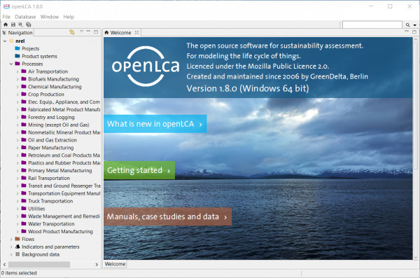 NREL LCI database import - ask openLCA - Question and Answer